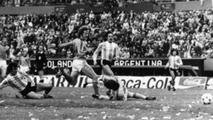 Mario Kempes Argentina Netherlands World Cup 1978 Final Match