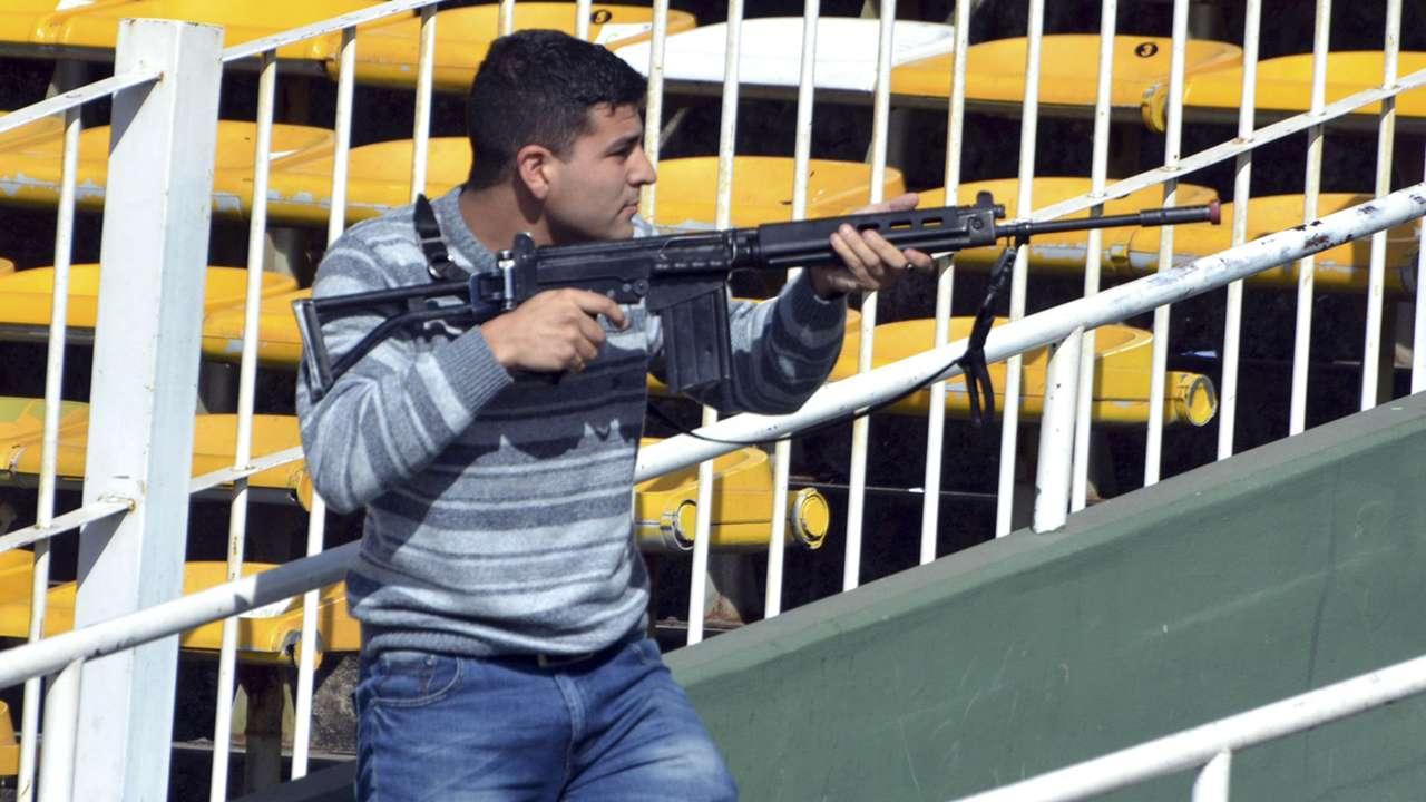 Simulacro ataque terrorista estadio Mario Alberto Kempes 27092016