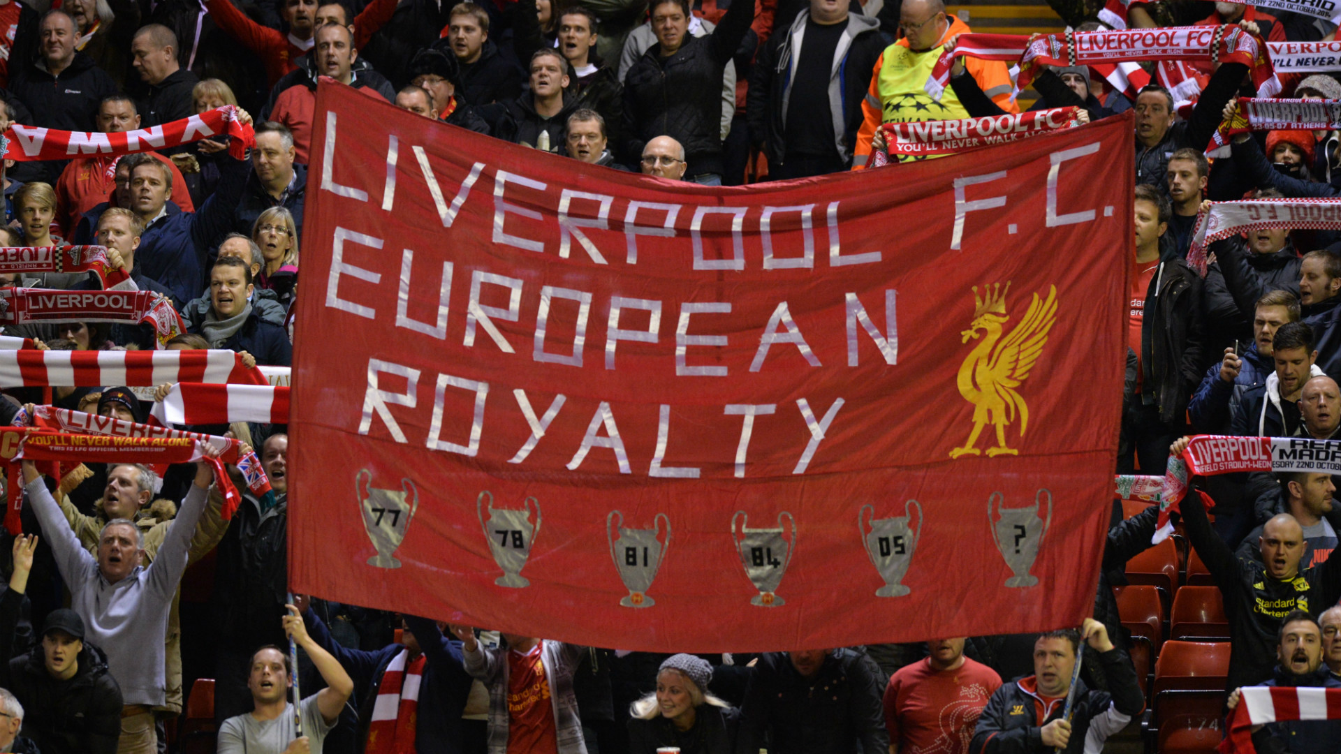 Liverpool fans UEFA Champions League 221014