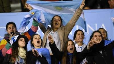 Hinchas Argentina - Ecuador