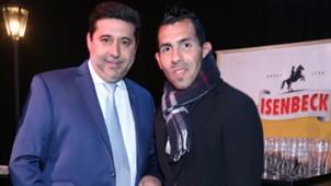 Cena Anual Solidaria de Boca: Daniel Angelici y Carlos Tevez