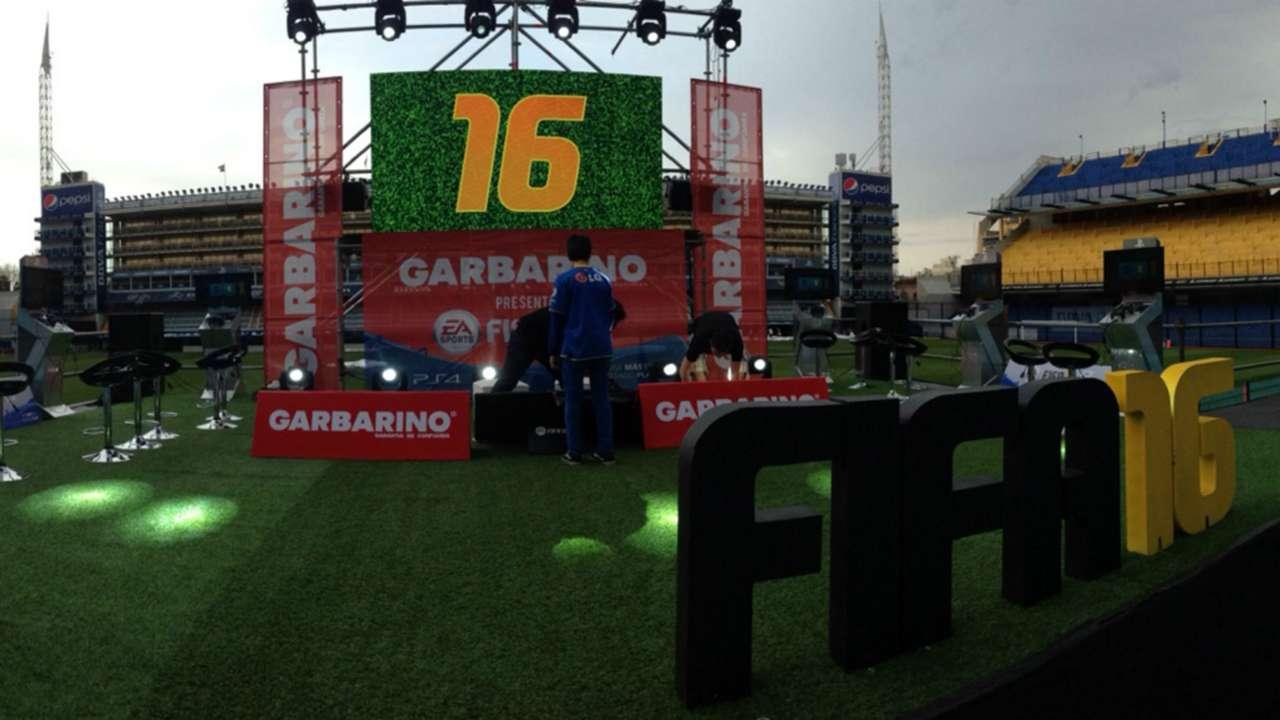 Presentación FIFA16 La Bombonera