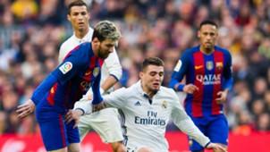 Cristiano Ronaldo, Lionel Messi, Mateo Kovacic y Neymar Barcelona Real Madrid 031216