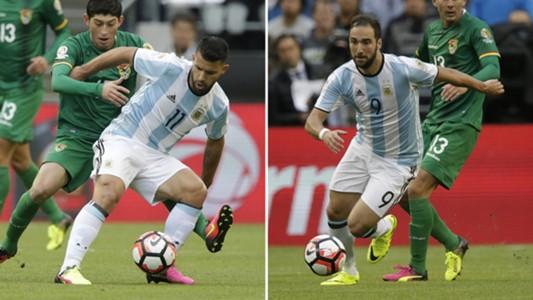 Higuain Aguero Argentina Bolivia Copa America