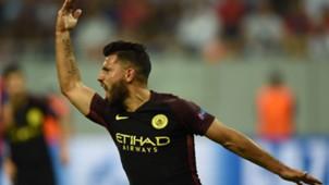 Sergio Aguero Manchester City Steaua Champions