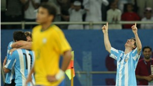 Lionel Messi Thiago Silva Argentina Brazil Friendly 2010