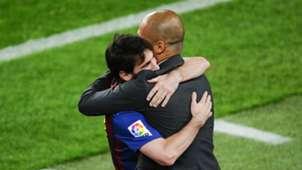 Lionel Messi Josep Guardiola Barcelona Espanyol Camp Nou 05052012