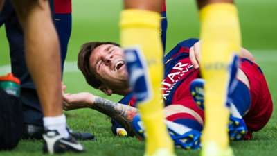 Lionel Messi Injury Barcelona Las Palmas La Liga 26092015