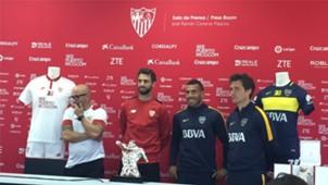 Boca Sevilla Sampaoli Pareja Tevez Guillermo Barros Schelotto