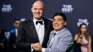 Maradona Infantino 090217