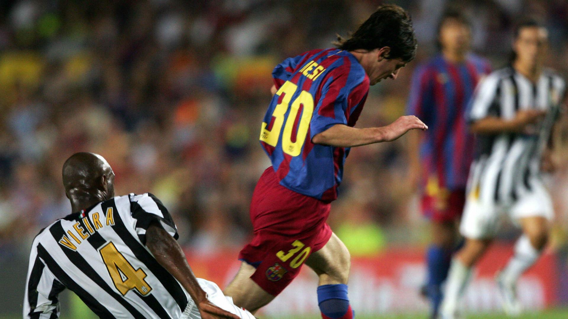 Patrick Vieira Lionel Messi Barcelona Juventus Joan Gamper Cup 24082005