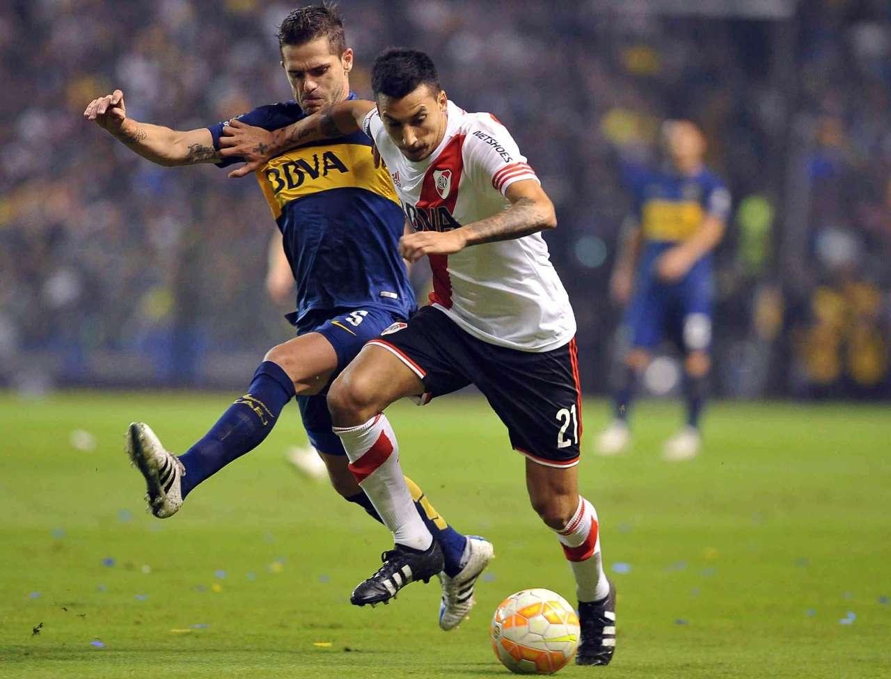 Fernando Gago Leonel Vangioni Boca River Copa Libertadores 14052015