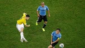 James Rodriguez gol a Uruguay Colombia