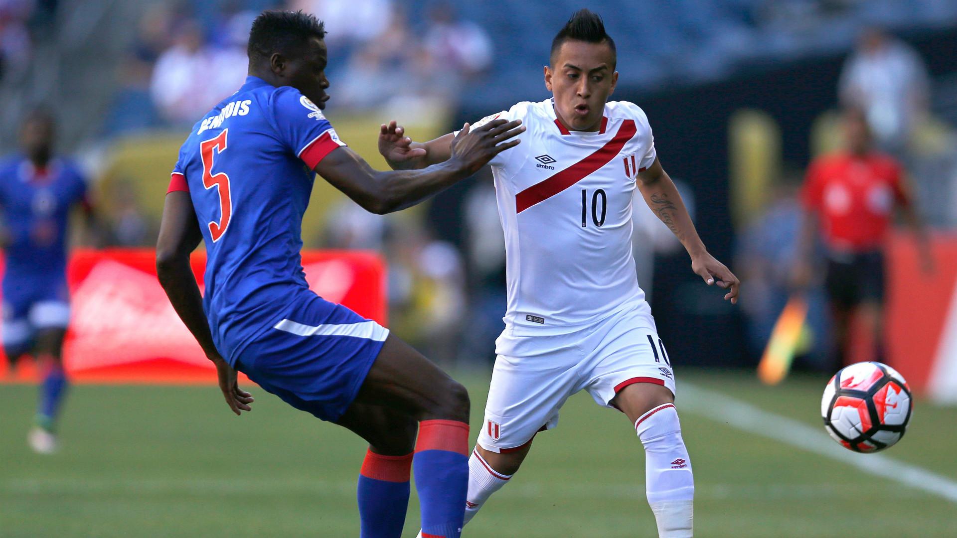 Romain Genevois Christian Cueva Haiti Peru Group B Copa America Centenario 04062016