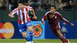Néstor Ortigoza Yohandry Orozco Paraguay Venezuela Copa America Argentina 2011 Group B 13072011