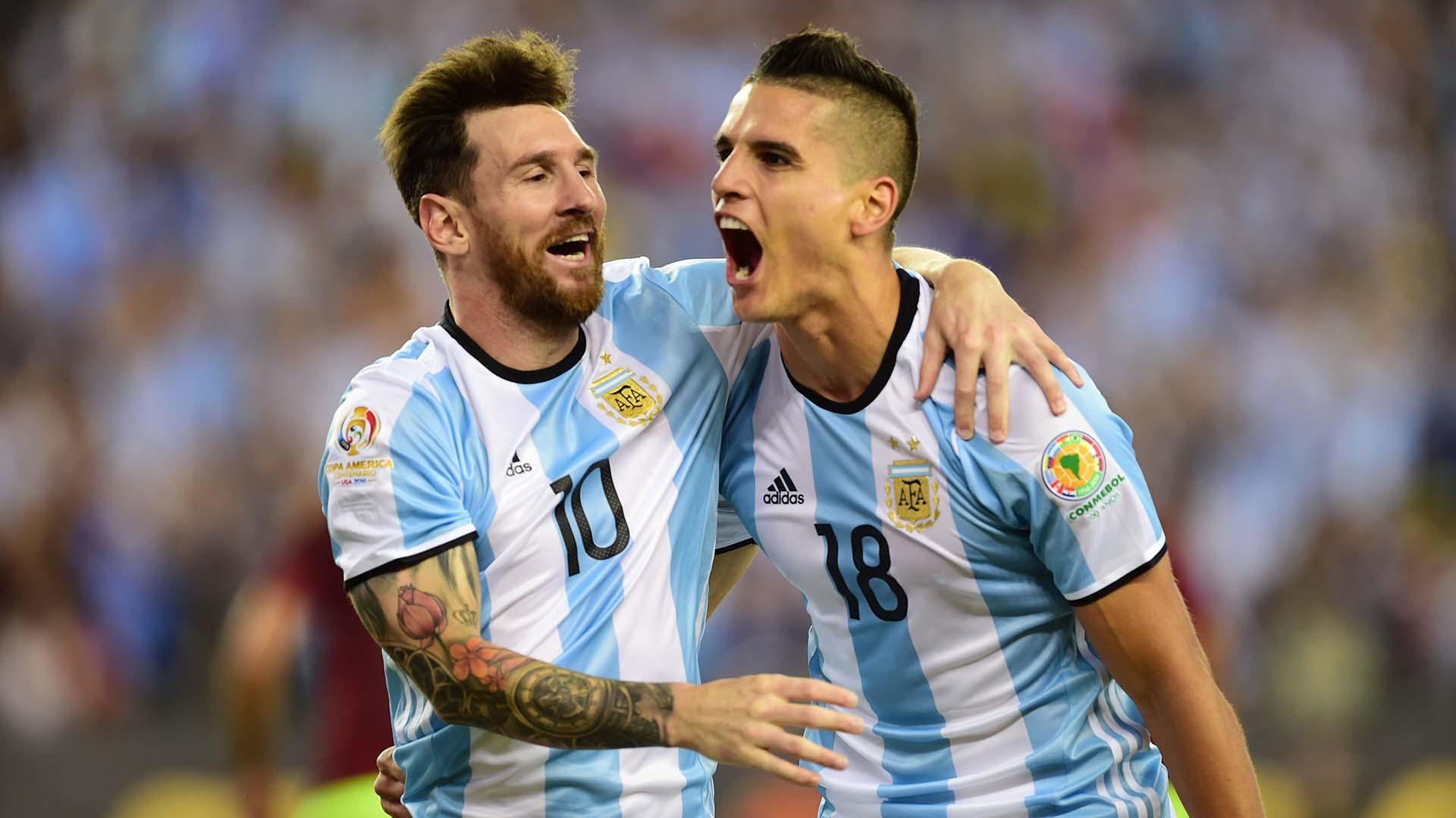 Erik Lamela Lionel Messi Copa America Argentina Venezuela 25062016