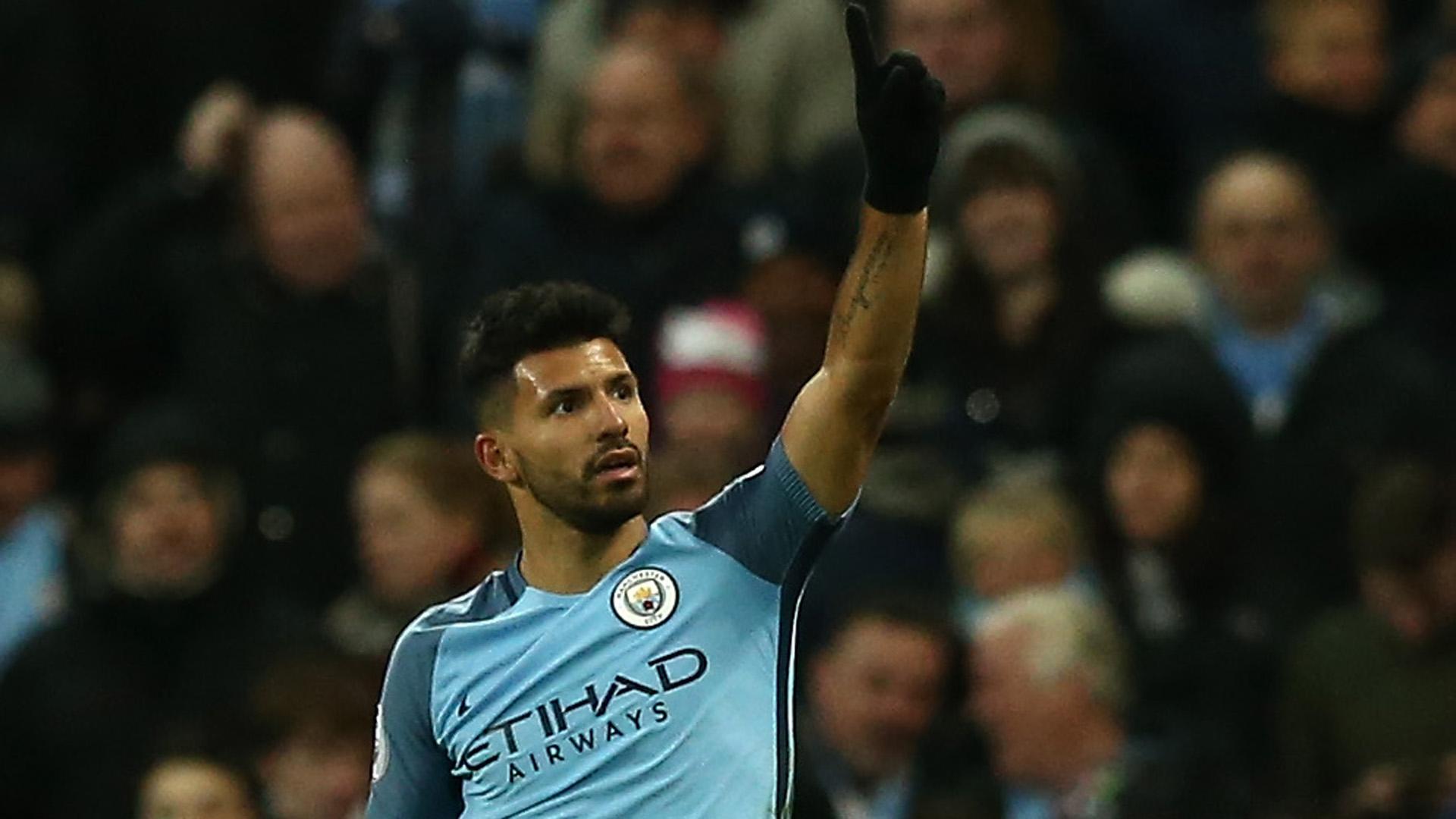 Sergio Aguero Manchester City Burnley 020117