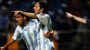 Carlos Tevez Lionel Messi Argentina Peru Copa America 08072007