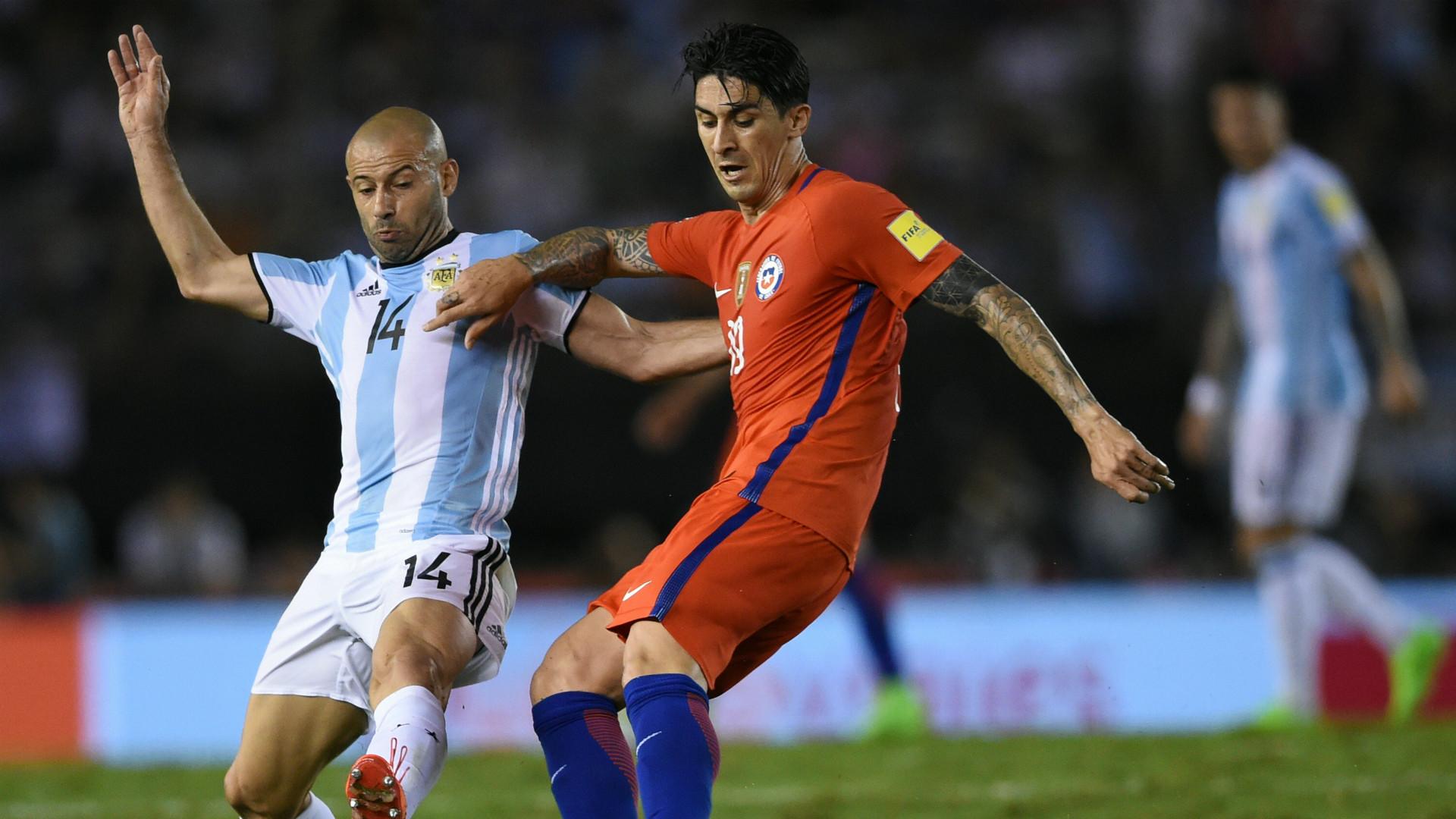 Javier Mascherano Argentina Chile Eliminatorias Sudamericanas 2018.