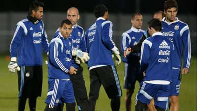 Carlos Tevez Argentina training session London 11112014