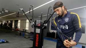 Sebastian Perez Boca entrenamiento gimnasio Julio Santella
