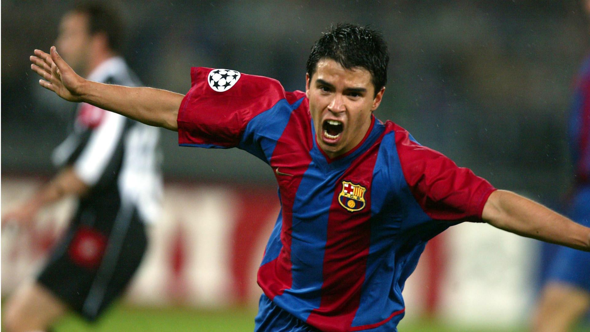 Javier Saviola Juventus Barcelona Champions League 200203