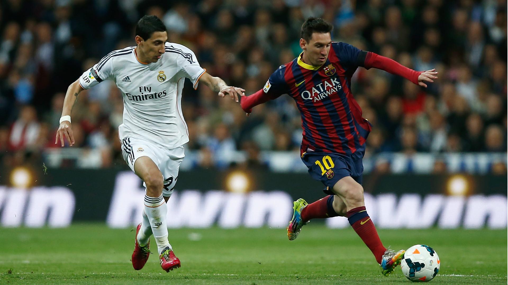 Angel Di Maria Lionel Messi Real Madrid Barcelona 23032014