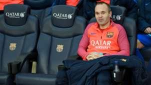 Andrés Iniesta FC Barcelona Camp Nou Banco