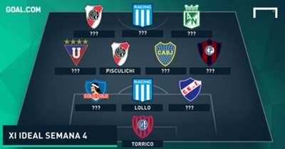 XI ideal semana 4 Copa Libertadores