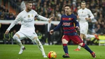 Real Madrid Barcelona Lionel Messi Sergio Ramos La Liga 12112015