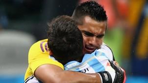 Lionel Messi Sergio Romero Argentina
