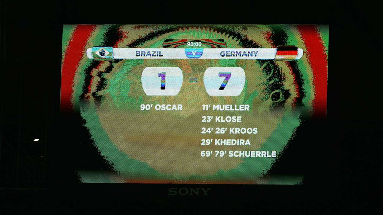 Score Brazil Germany FIFA World Cup 2014 08072014