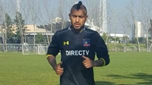 TW Arturo Vidal Entrenando en Colo Colo 15072016