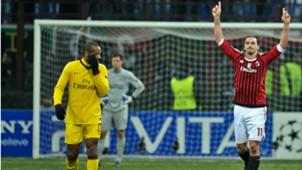 Zlatan Ibrahimovic Thierry Henry Milan Arsenal Champions League 15022012