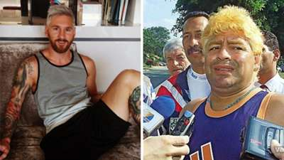 Maradona Messi blond