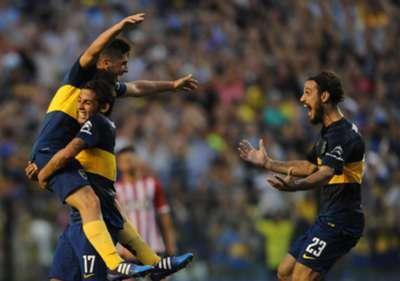 Cristian Erbes Cesar Meli Daniel Osvaldo Boca Estudiantes Primera Division 29032015