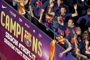 La fiesta del Triplete Barcelona