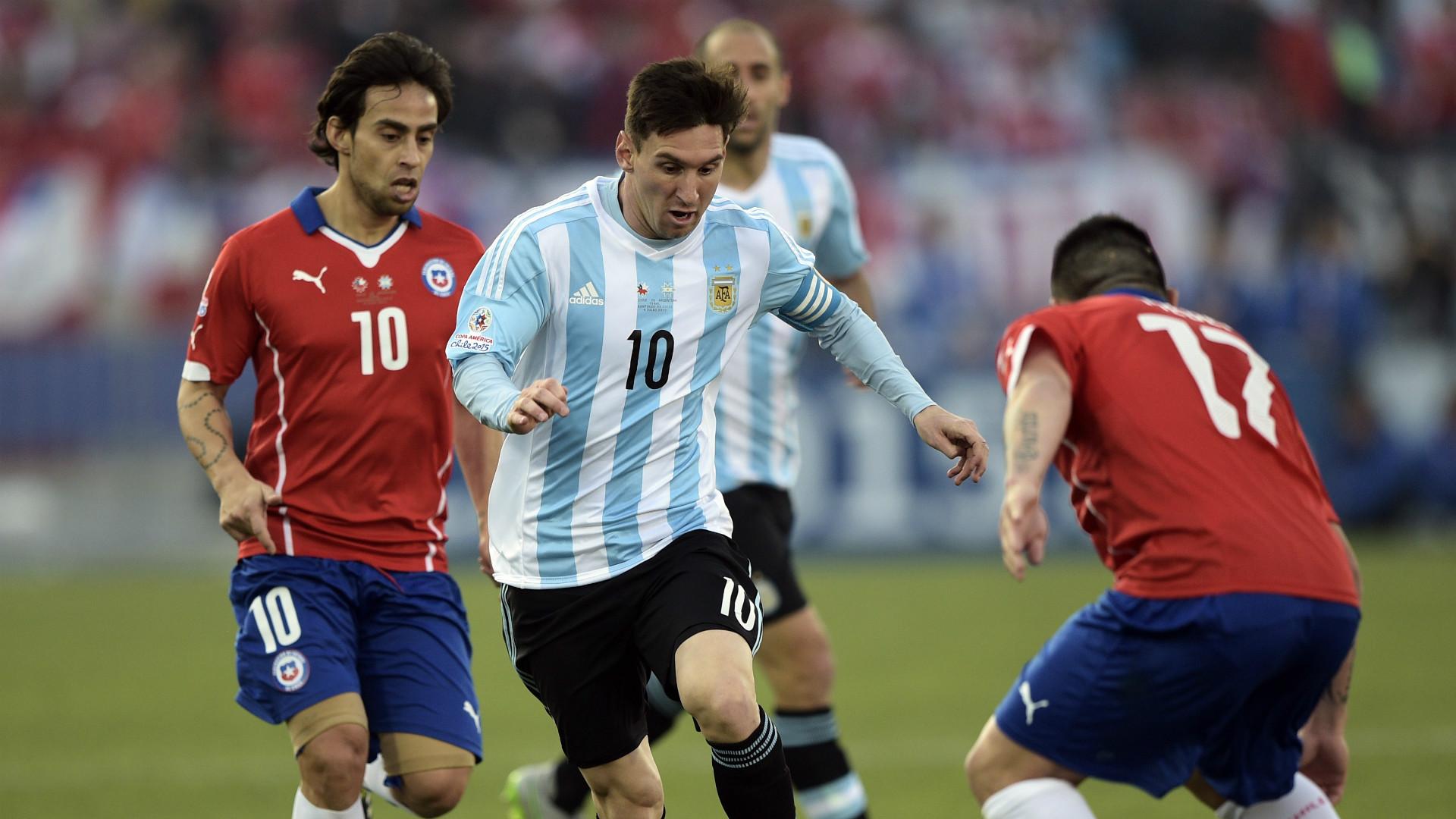 Lionel Messi Argentina Chile Final Copa América 2015