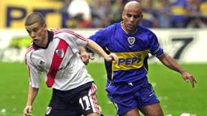 Andres DAlessandro Mauricio Serna Boca Juniors River Plate Apertura Tournament 10032002