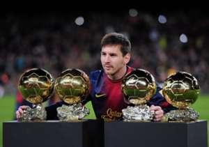 Messi, con sus primeros cuatro balones de oro