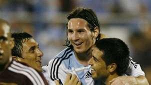 17 de octubre de 2007 Messi Riquelme Argentina