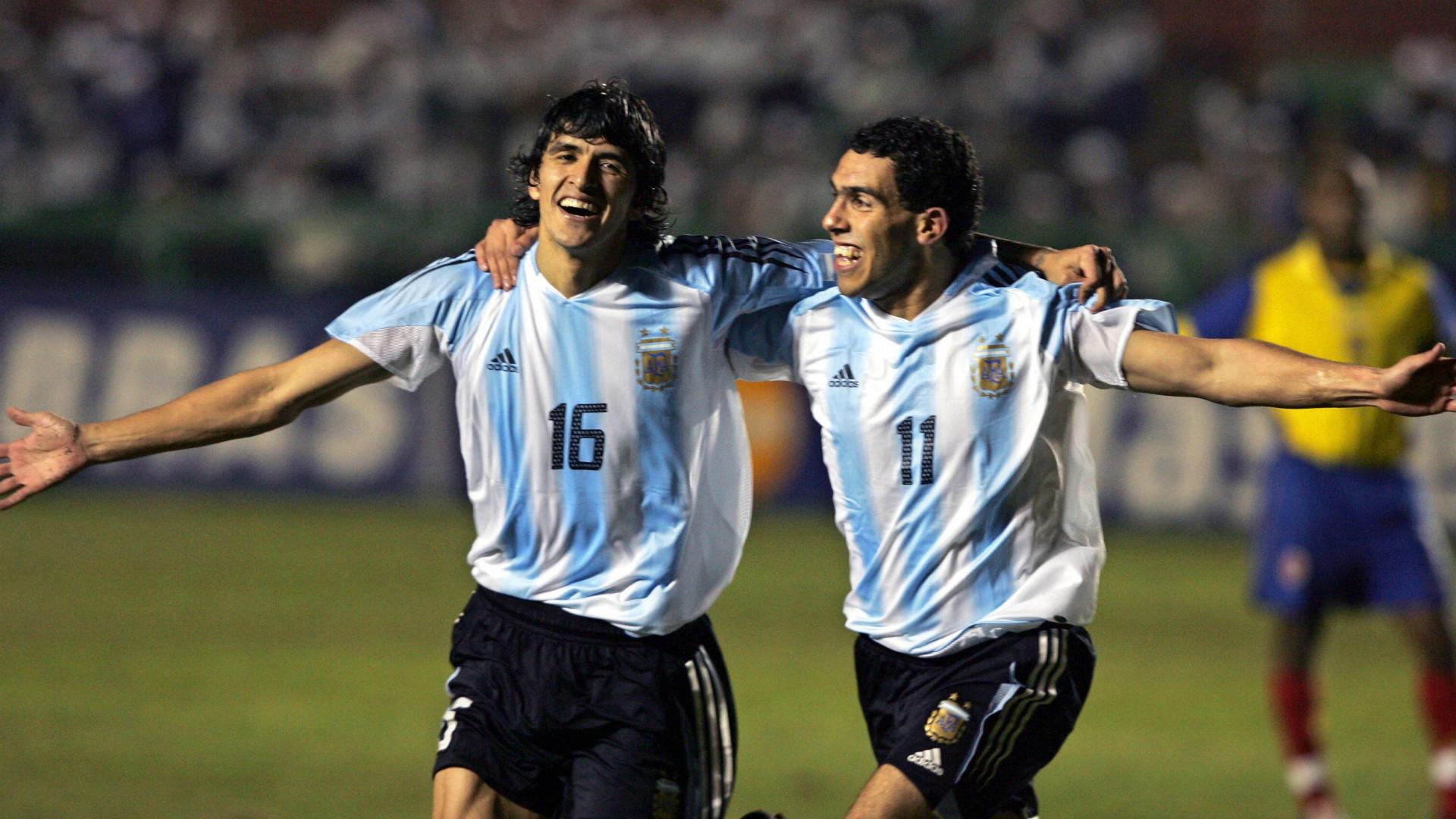 Luis Gonzalez Carlos Tevez Argentina Colombia Copa America 20072004