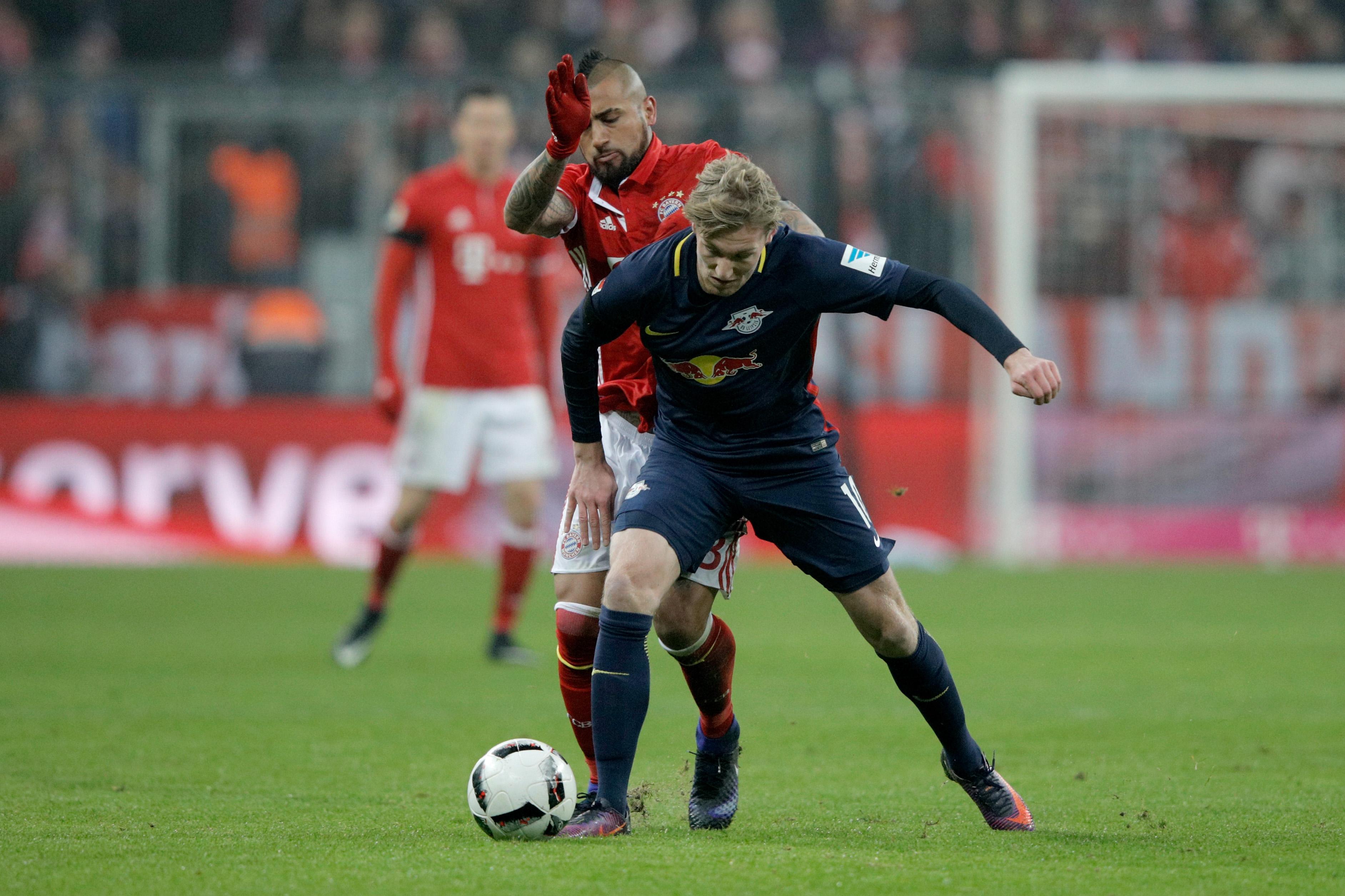 Vidal. Bayern Leipzig Emil Forsberg