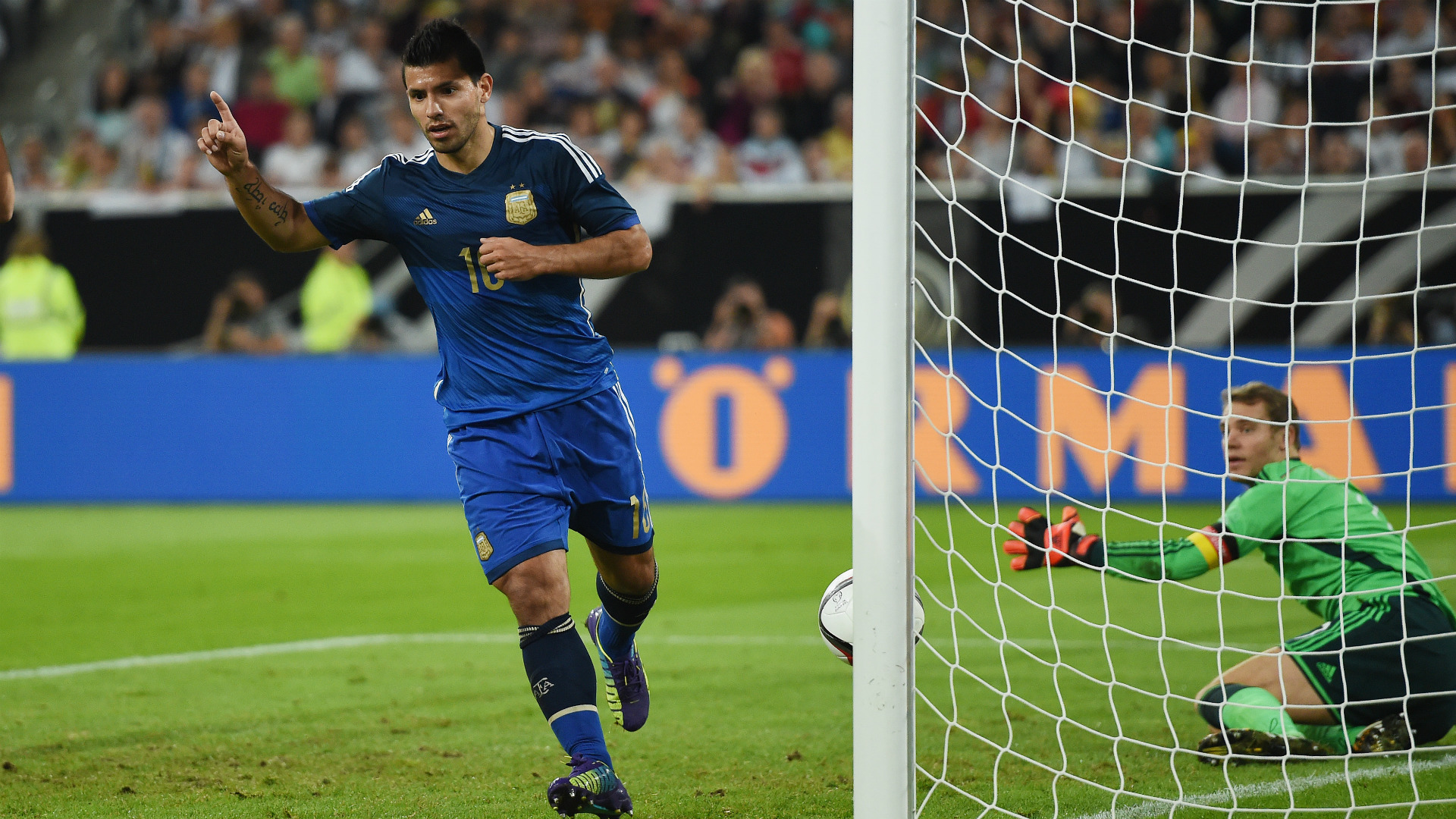 3 Sergio Aguero Argentina Germany international friendly 03092014