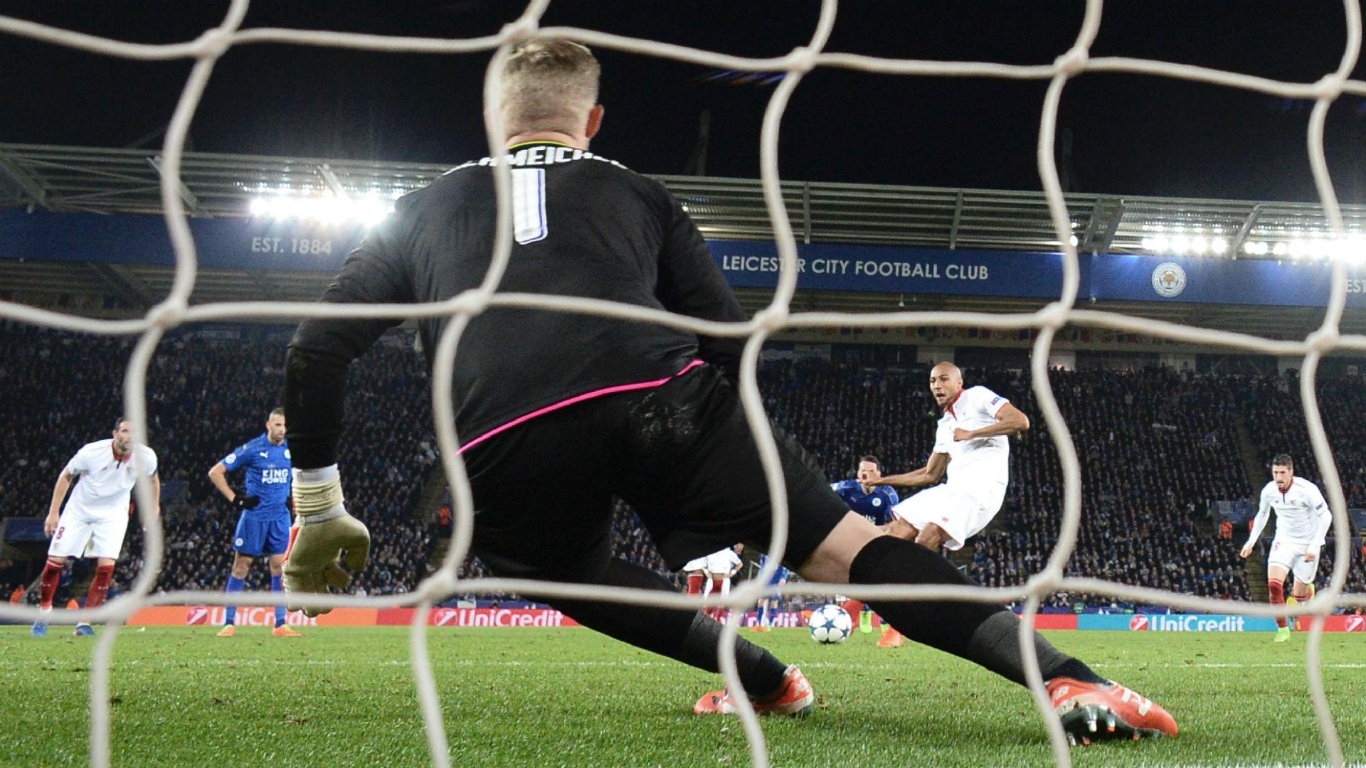 Penal N'Zonzie Leicester Sevilla Champions League