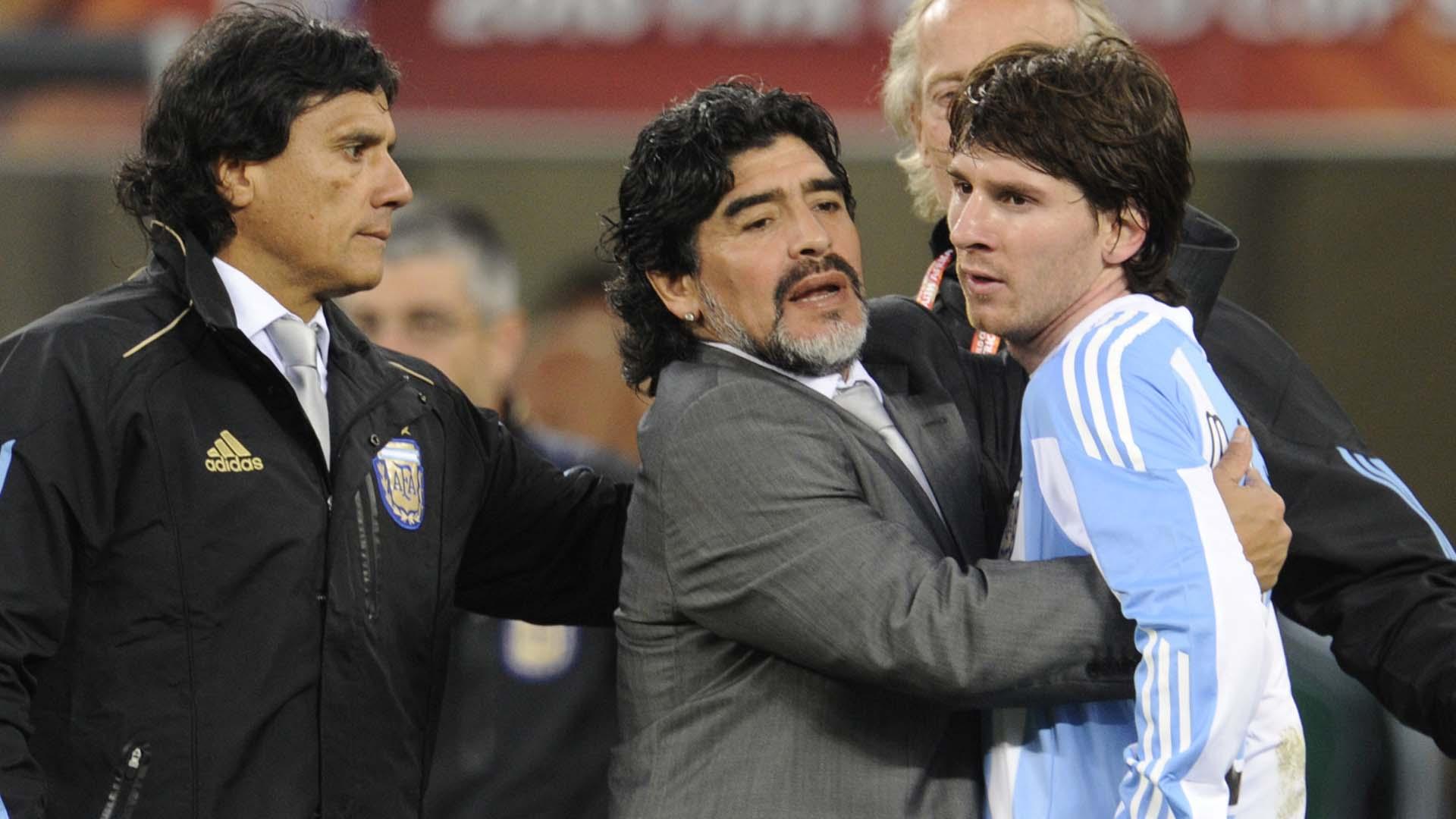 Maradona Messi Sudáfrica 2010 07072015