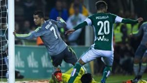 Cristiano Ronaldo German Pezzella La Liga 23012016