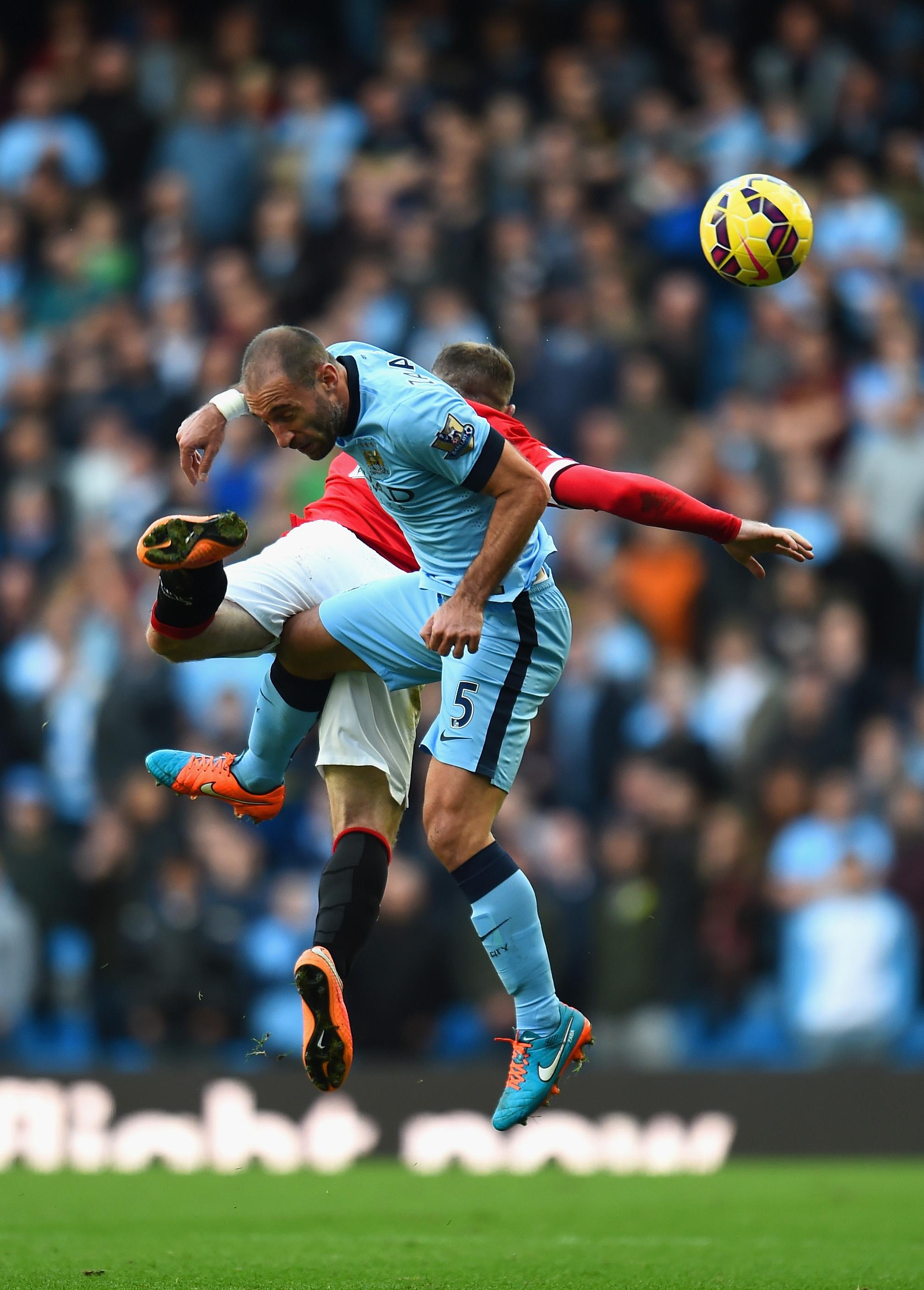 Pablo Zabaleta Manchester City Manchester United 02112014