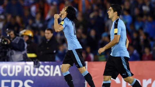 Cavani Suarez Uruguay v Peru Eliminatorias WC Qualifying South America 2018 29032016