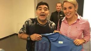 Diego Maradona - Rocio Oliva - Raqueta Del Potro Final Copa Davis 27112016